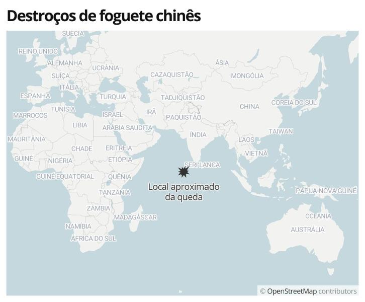 'China não cumpre padrões responsáveis', diz Nasa após destroços de foguete caírem no Oceano Índico