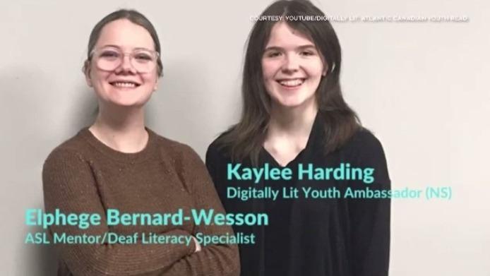 Adolescente da Nova Scotia usa as habilidades da linguagem de sinais americana para compartilhar histórias com os jovens