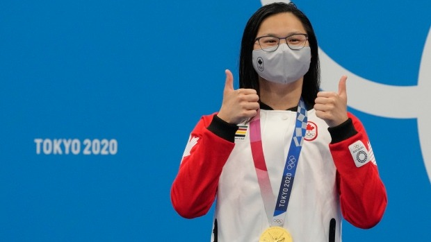 A nadadora canadense Maggie Mac Neil foi eleita a melhor atleta feminina de Tóquio 2020
