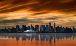 Pôr do sol em Vancouver