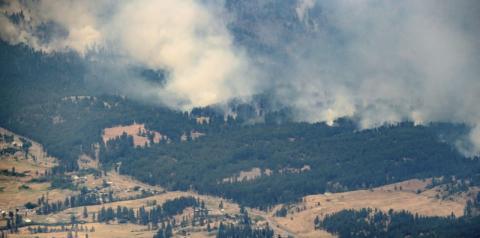 Incêndios no oeste do Canadá estão criando seus próprios sistemas climáticos
