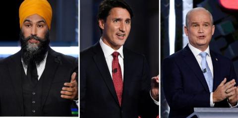 Os três principais líderes dos partidos federais seguem em campanha pelo país