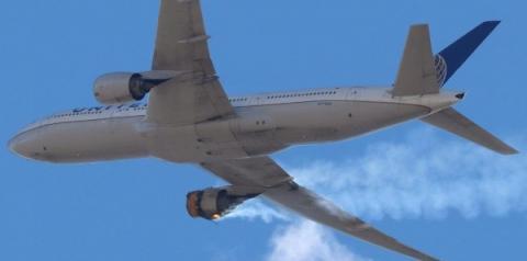 (Vídeo) Após explosão de motor no ar, Boeing recomenda suspensão de voos com jatos 777