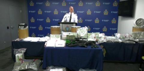 Ação interprovincial da polícia apreende $11,5 milhões do crime organizado