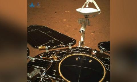 Veja as primeiras imagens tiradas pelo rover chinês em Marte