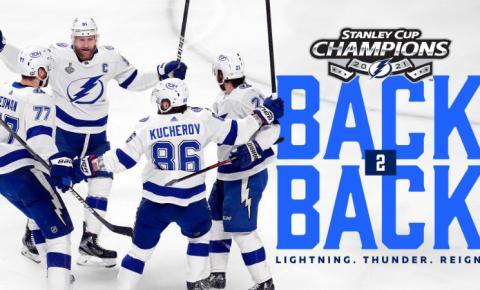 Tampa Bay Lightning é campeão! O raio caiu no mesmo lugar!
