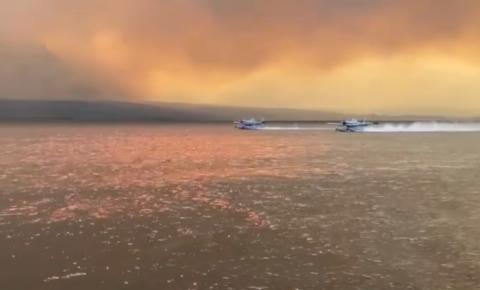 As tripulações lutam para manter os velejadores longe dos incêndios florestais, bombardeiro de água é forçado a abortar recarga em B.C.