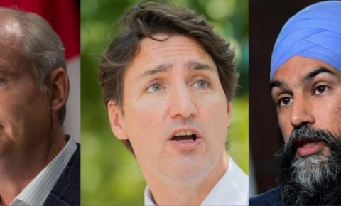 Líderes em Ontário e B.C. conforme a campanha entra na semana final