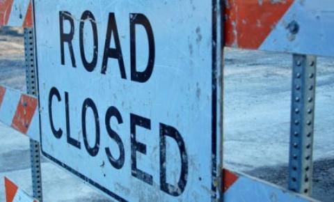 Allen Road está fechada de sexta à noite até segunda-feira