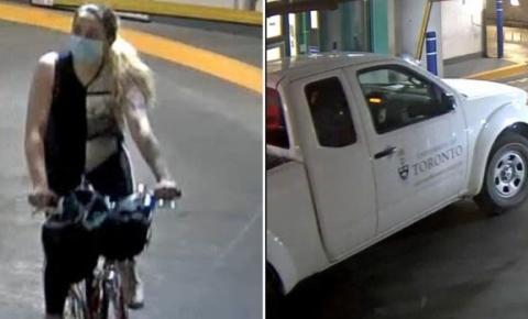 Polícia procura mulher que supostamente roubou um caminhão da Universidade de Toronto