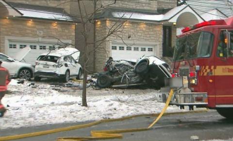 GTA tem estradas escorregadias e múltiplos acidentes registrados