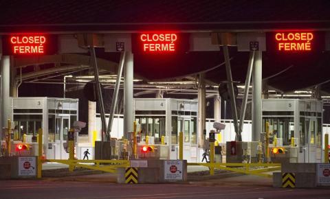 Viagens não essenciais na fronteira Canadá-EUA seguem proibidas até 21 de março