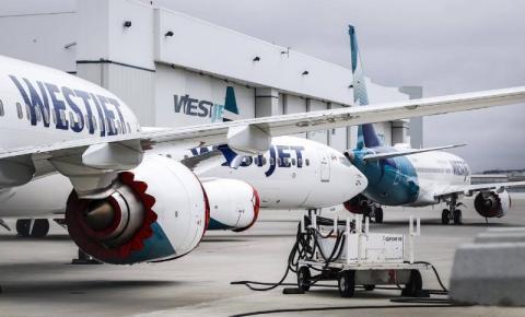 WestJet estendendo suspensão temporária de voos internacionais até junho
